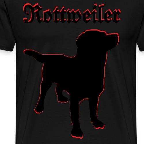Rottweiler,Hundebesitzer,Hundekopf,Hundesport,Hund - Männer Premium T-Shirt