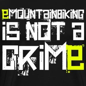 EMTB is not a crime - Ebike - EMOUNTAINBIKE - Männer Premium T-Shirt