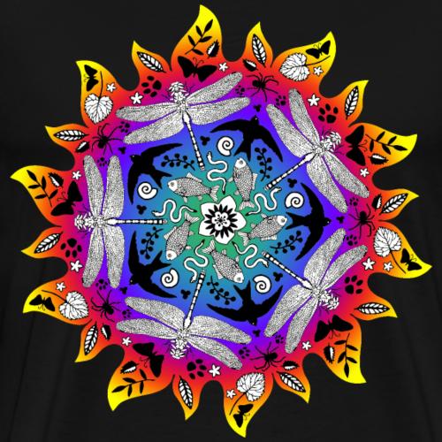 Sonne Mandala tropisch - Männer Premium T-Shirt