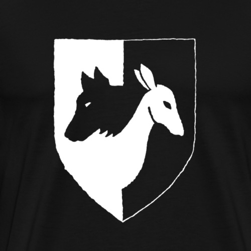 Pyhävuori pelkkä häälogo - Miesten premium t-paita