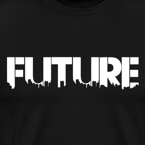 Future White - Herre premium T-shirt