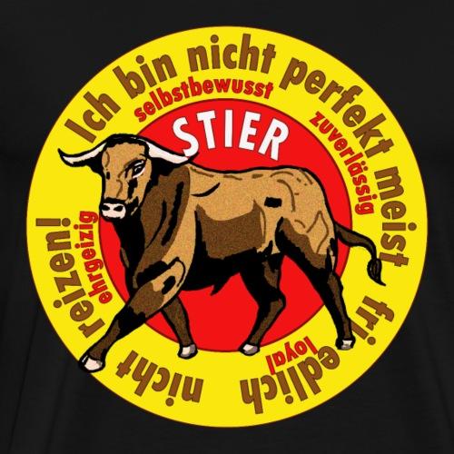 Stier Logo gelb - Männer Premium T-Shirt