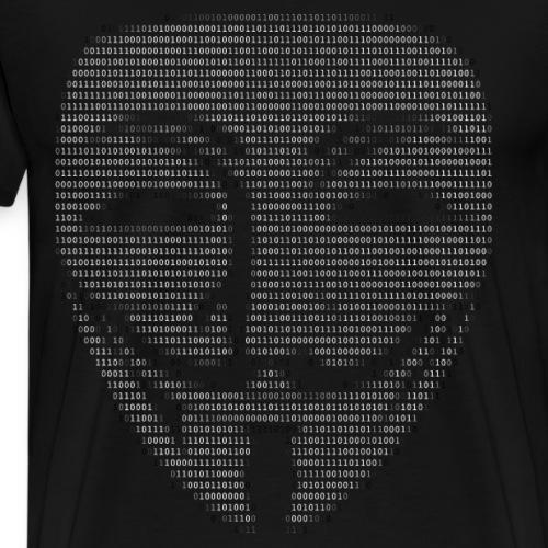 Guy Fawkes Mask Binary - Mannen Premium T-shirt