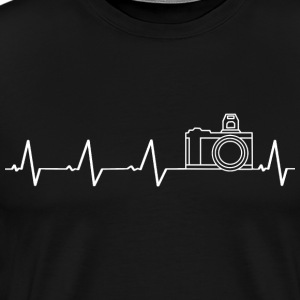 I love photography (heartbeat) - Men's Premium T-Shirt