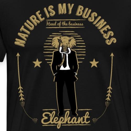 NATURE IS MY BUSINESS ELEPHANT - Männer Premium T-Shirt