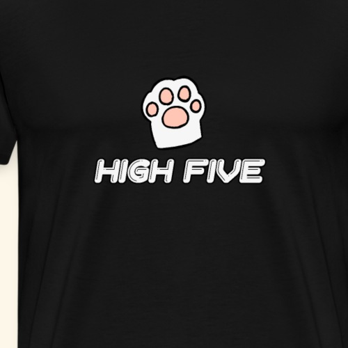high five Katzenpfote - Männer Premium T-Shirt