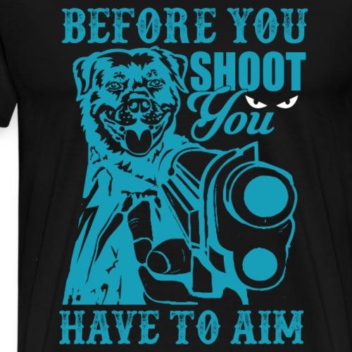 Dog shoots - Männer Premium T-Shirt