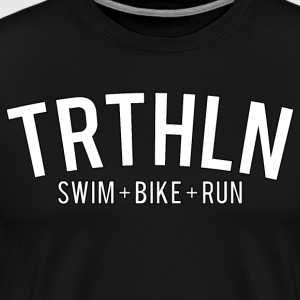 Triathlon - Hvid Edition - Herre premium T-shirt