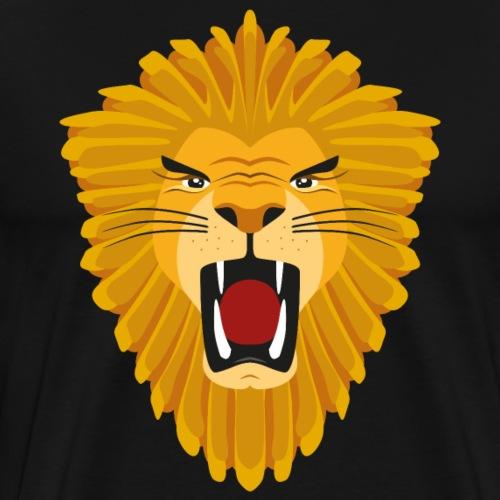 Leeuw vector illustratie - Mannen Premium T-shirt