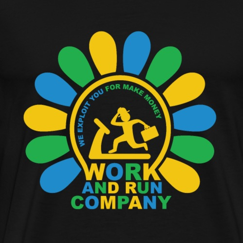 Work and Run color - T-shirt Premium Homme