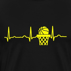 ECG HEARTBEAT BASKETBALL yellow - Men's Premium T-Shirt