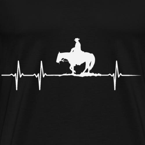 Herzschlag eines Pferdeliebhabers - Männer Premium T-Shirt