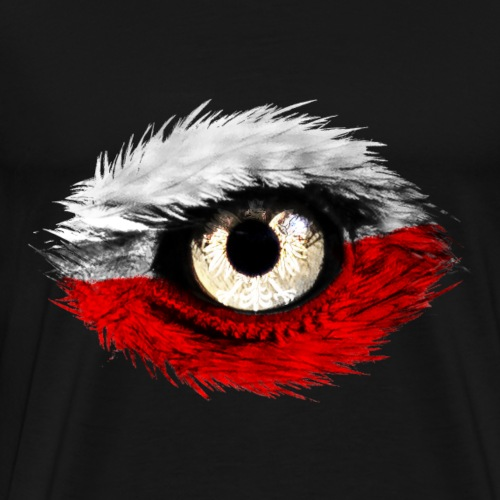 Polnischer Adler mit Polen Flagge - Männer Premium T-Shirt