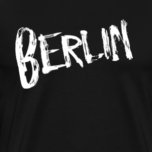 Berlin font - Premium T-skjorte for menn