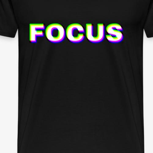 Focus glitch focus - Men's Premium T-Shirt