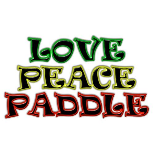 LOVE PEACE PADDLE 3C - Männer Premium T-Shirt