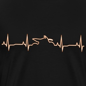 Motocross Heartbeat - Glow Orange - Premium-T-shirt herr