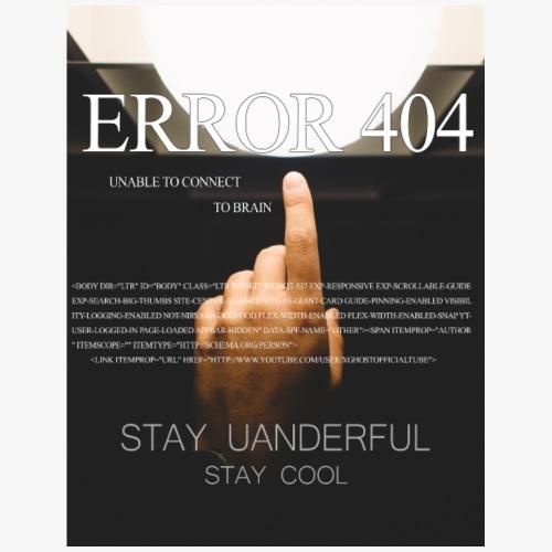 ERROR 404 Merch - Maglietta Premium da uomo