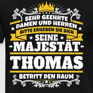 Hans Majestet Thomas - Premium T-skjorte for menn