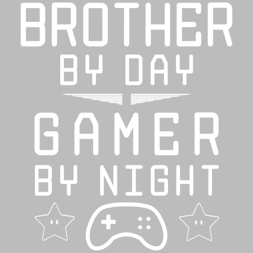 brother by day gamer by night - Männer Premium T-Shirt