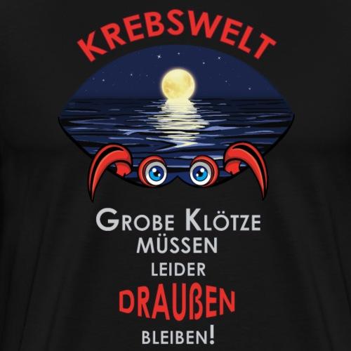 Sternzeichen Krebs | Harte Schale - weicher Kern - Männer Premium T-Shirt