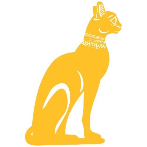 Altägyptische Katze BASTET - Männer Premium T-Shirt