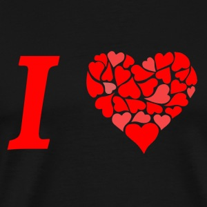 I love I love in Love - Men's Premium T-Shirt