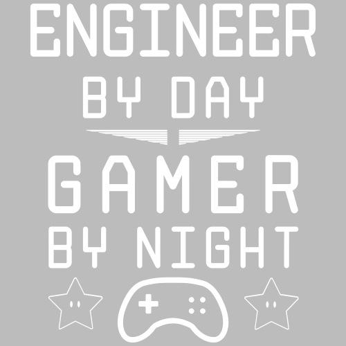 engineer by day gamer by night - Männer Premium T-Shirt