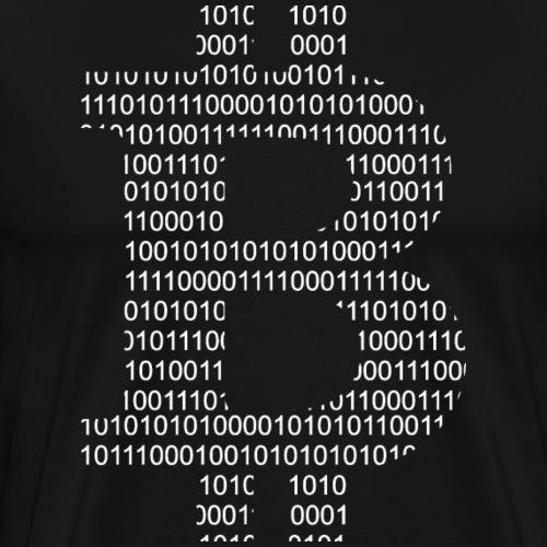 Bitcoin Binär Logo - Männer Premium T-Shirt