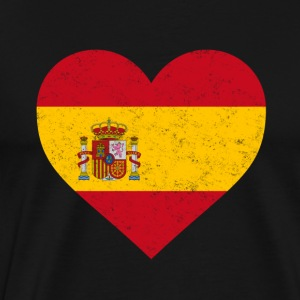 Spain Flag Shirt Heart - Spanish Shirt - Men's Premium T-Shirt