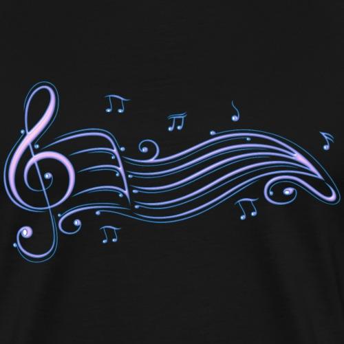 Musik, Notenschlüssel mit Notenblatt - Männer Premium T-Shirt