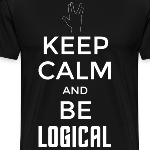 Keep Calm and be logical (hell) - Männer Premium T-Shirt