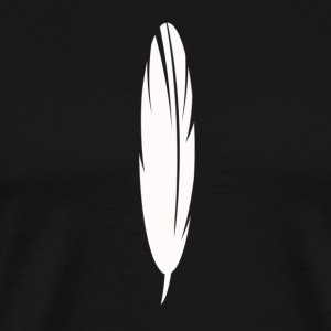 White Feather as a graphic / illustration - Männer Premium T-Shirt