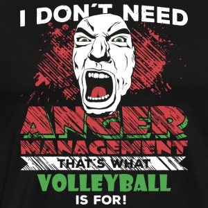 Anger Management - VOLLEYBALL - Herre premium T-shirt