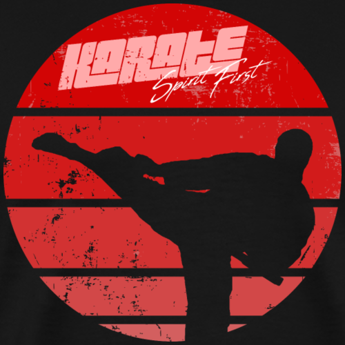 Karate Retro Sun Spirit First - Männer Premium T-Shirt