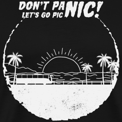 Don't panic and let s go picnic - Männer Premium T-Shirt