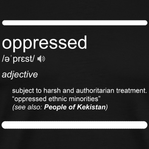 Oppressed definition white - Men's Premium T-Shirt