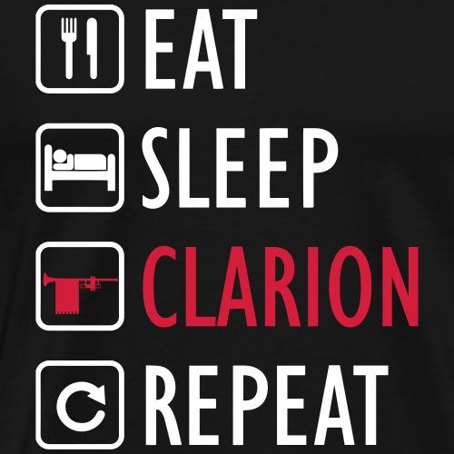 eat sleep CLARION repeat - Maglietta Premium da uomo