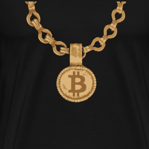 Bitcoin Gold Chain - Men's Premium T-Shirt
