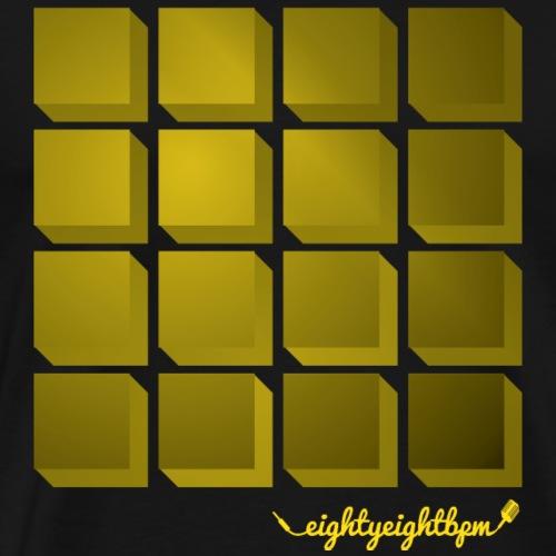 88 BPM MPC 16 Pads (yellow) - Men's Premium T-Shirt