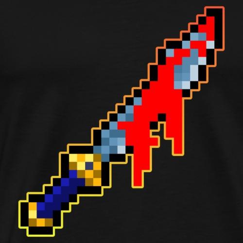 Pixel Säbel - Männer Premium T-Shirt