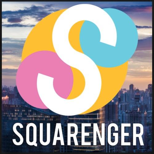 Squarenger Logo Hintergrund - Männer Premium T-Shirt