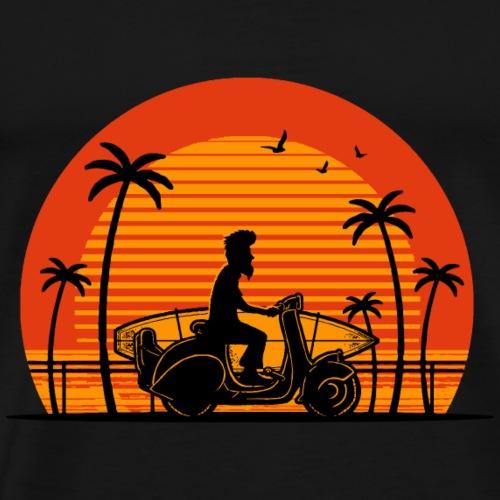 Surfer auf Roller - Männer Premium T-Shirt