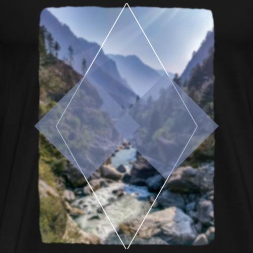 Idylle der Berge - Männer Premium T-Shirt