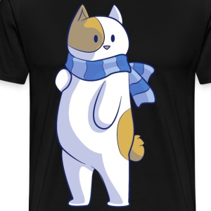 Cat with scarf - Men's Premium T-Shirt