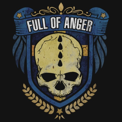 Full of Anger Logo #5 - Premium-T-shirt herr