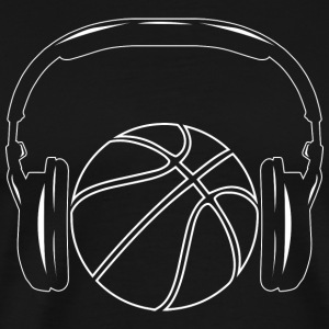 Basketball! BBall! Streetball! NBA! headphone - Men's Premium T-Shirt