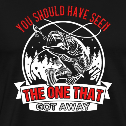 The One Bass Fishing - Männer Premium T-Shirt