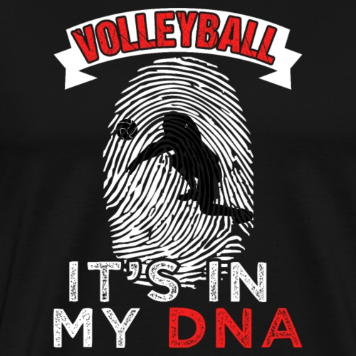 Funny Volleyball It's In My DNA Gift - Männer Premium T-Shirt