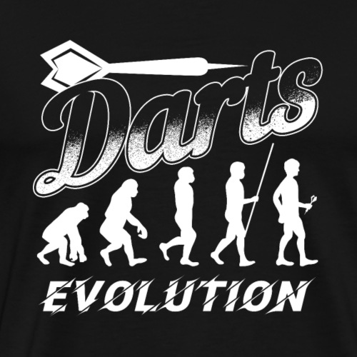 Darts Evolution | Dart Player Gift - Männer Premium T-Shirt